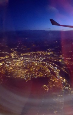 Flying over France last week.