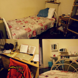 Making my little studio mine--my first night in my first apartment